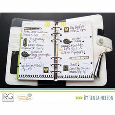 More #planner goodness to share! #MakeAmazingDT member: @tenianelson created her layout using the #RGretail collection: #Noteworthy   #richardgaray #plannergirl #planneraddict #papercraft #washistickers #plannerdecoration #funstampersjourney #websterspages #inserts