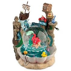 the little mermaid snow globe