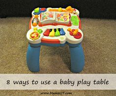 8 ways to use a baby play table