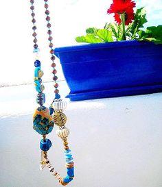 Bohemian  jewelry. Long Necklace. Boho. Yoga  necklace  Boho