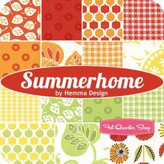 Summerhome Fat Quarter Bundle Hemma Design for Red Rooster Fabrics - Fat Quarter Shop