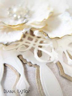 Floral Christmas card detail by Velvet Moth Studio