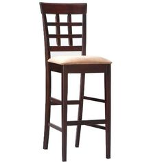 """Coaster Bar Stools, Solid Wood Cappuccino with Wheat Back,30""""H,Set of 2 Coaster Home Furnishings,http://www.amazon.com/dp/B0018E7KRI/ref=cm_sw_r_pi_dp_Qe95sb0D70EVCBGN"""