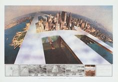 Superstudio, The Continuous Monument New New York, 1969.