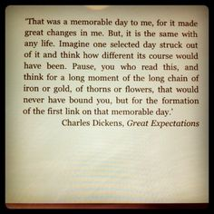 Great Expectations, Charles Dickens.