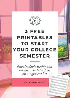 3 Free Printables for Starting Your College Semester! Click through to read, and pin to save for later!