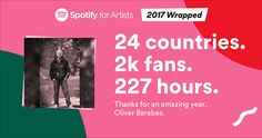 Much love from you in 2017. What an amazing year. All the best for 2018  http://spoti.fi/2ynFyy9
