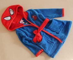 Spider-Man coral fleece bath robe soft infant clothes kids bathrobe towel tracksuit