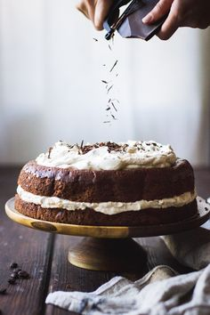 Chocolate Chestnut Cream Cake with Coffee + Rum {gluten-free}