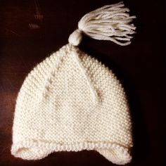 Garter stitch pixie hat by Purl Bee