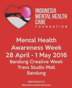 Mental Health Awareness Week by @IDMentalityCare @IMC_Volunteers (Indonesia Mental Health Care Foundation)  Indonesia mental health kembali mengadakan penyuluhan dg isu sehat mental. Kegiatan yg akan kami lakukan selama bbrp hari di TSM bdg dlm rangka Bandung creative week ini adlh Free mental check up plus konsultasi dan talent mapping.   Bagi yg berminat bisa lgsg dtg saja dr jam 11-20.00 mulai hri kamis hingga minggu ini  Silahkan ajak keluarga kecengan pacar adek kakak sepupu kakek…