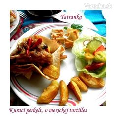 Kurací perkelt v mexickej tortille (fotorecept)