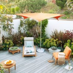 Get 40 design ideas for turning your deck or patio into an outdoor retreat—because the best vacation spot is in your own backyard (or rooftop). Outdoor Retreat, Outdoor Rooms, Outdoor Living, Backyard Retreat, Outdoor Furniture, Teak Furniture, Outdoor Fire, Small Yard Design, Deck Design