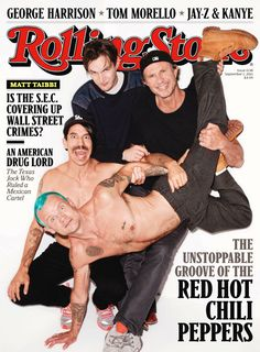 Rolling Stone Magazine August 19th 2011 Issue 1138 Red Hot Chili Peppers Interview David Fricke Front Cover
