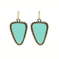 Eco Friendly Turquoise Earrings