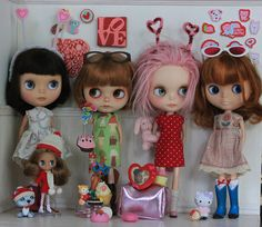 This is crazy to see a pin of - this is the stuff that I sent to my swap partner (on her dollies) :)