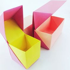 New origami boxes further adjustments origami box origamibox origamiboxes paperfolding paperkawaii