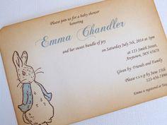 Peter Rabbit Baby Shower Invitations Beatrix Potter