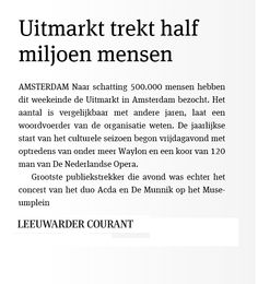 Uitmarkt 2014. © Leeuwarder Courant, 1 september 2014.