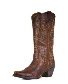 Ariat Womens Heritage Western X Toe Boot - Vintage Caramel