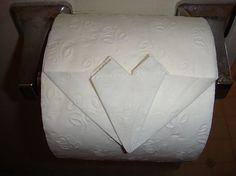 Toilet Paper Origami Design Directions