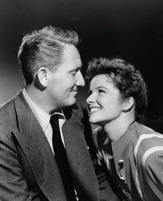 Spencer Tracy and Katharine Hepburn. Such a true Love story.