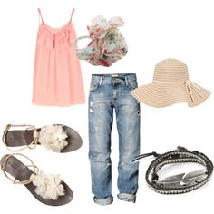 summery via jannamichele on polyvore.com