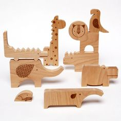 Wood Block Safari Puzzle | dotandbo.com