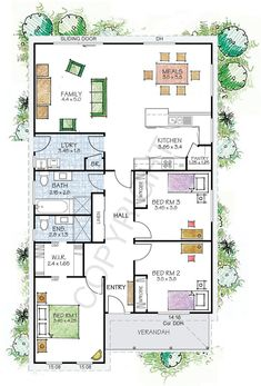 The Fitzroy floor plan - Paal Kit Homes offer easy to build steel frame kit homes for the owner builder and have display / sale centres in Sydney NSW, Melbourne VIC, Brisbane QLD, Townsville NTH QLD, Perth WA.