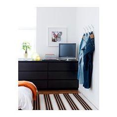 MALM Commode 3 tiroirs, brun noir - 80x78 cm - IKEA