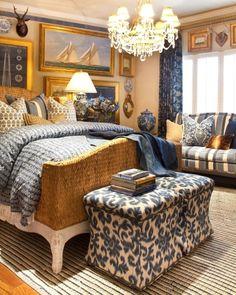 coastal Maine style bedroom