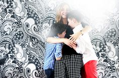 """Example of how sometimes pattern all over the place is okay. I like it for images like this that are for the overall """"feel"""", but NOT for the traditional family portrait where everyone is supposed to look at the camera. If you go with this, it's a great idea for a Signature session where you can change into a neutral/solids outfit in the same session. :)"""