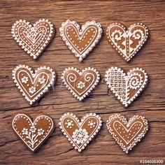 Gingerbread heart cookies: comprar esta foto de stock y explorar imágenes similares en Adobe Stock | Adobe Stock Heart Cookies, Stock Foto, Delicious Fruit, Gingerbread, Adobe, Valentines Day, Baking, Recipes, Exploring