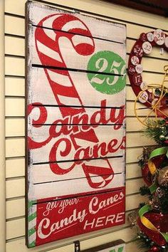 39 Best Candy Cane Christmas Decoration Ideas 39 Best Candy Cane Christmas Decoration Ideas If you are looking for Candy Cane Christmas Decoration Ideas You come to the r. Pallet Christmas, Noel Christmas, Primitive Christmas, Christmas Signs, Rustic Christmas, Christmas Projects, Winter Christmas, Vintage Christmas, Christmas Decorations