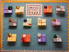 Students write about what they want for Christmas and it is put inside a present!  CUTE lift-the-flap writing!