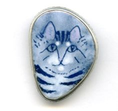 Vintage Sterling Silver Signed Cat Pendant and by PickleValentine