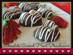 Walking on Sunshine: Chocolate Covered Heart Shaped Strawberries