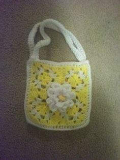 Cute little yellow purse