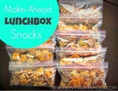 Make the whole week of Snack Bags on Sunday night with sale snacks - saves me a ton with 4 kids! (10¢ per Baggie!)