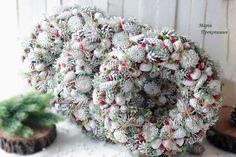 """Великі новорічні вінки """"Сніжна зима""""."""