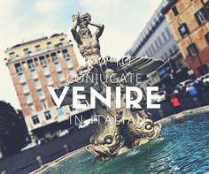 "How to Conjugate the Verb ""Venire"" in Italian Italian Verbs, Italian Language, Learning Italian, Study, Learn Italian Language, Studying, Learning"