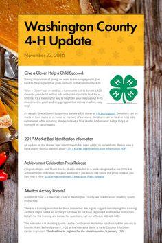 11.22.16 Washington County 4-H Update