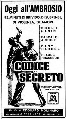 Codice segreto (Les ennemis, 1962) di Édouard Molinaro, con Roger Hanin e Pascale Audret. Italian release: July 21, 1962 #EdouardMolinaro #SpyStory