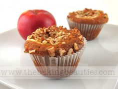 The combination of apples, nuts, caramel, and cream cheese make these gluten-free Creamy Caramel Apple Cupcakes the perfect treat.