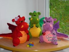 (6) Name: 'Knitting : Dragon