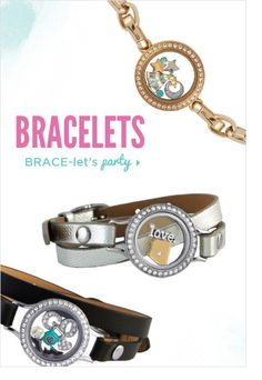 Bracelets Link Locket, Dangle, CORE or Leather Wrap styles.  www.kristiwatts.origamiowl.com  Designer No. 7609