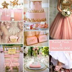 These are the colors for my wedding.. Pink & gold with sparkles. It's not a childish pink, but it's an elegant pink @Barbara Williamson @Mone't Allen do y'all like?