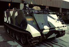 Norwegian M113 in an unusual winter camoflauge scheme