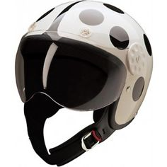 HCI-15 White / Black Lady Bug 3/4 Helmet