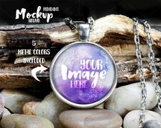 Round pendant template mockup with Rolo by styledproductmockups